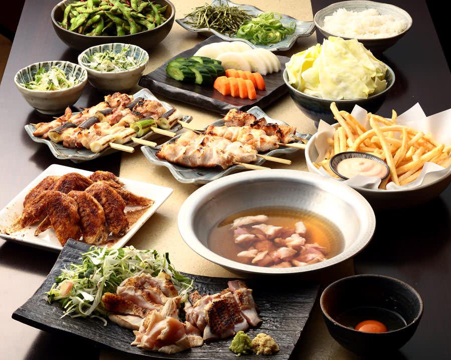 とりいちず 大井町西口店の鶏料理を満喫できる〈食べ放題×飲み放題コース〉